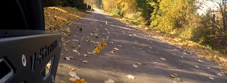 Motorradfahren im Herbst